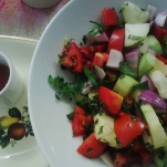 Freddie Mercury Birthday Brunch - Shirazi salad