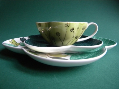 The Beloved's Wonderful Game - cup with saucer and plate