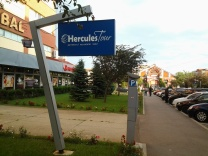 "Hercules Tour, the partner to your travels! LOL (in Drobeta, Romania - near Serbia which means ""Land of Serbo (Hercules)"" and legend says his gear is buried in the mountains. The hotel had an episode of 'Legendary Journeys' on at breakfast, too - it stars Kevin Sorbo)"